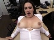 Busty business woman railed by pawn keeper at the pawnshop