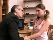 Perverted doggystyle pounding from lustful mature teacher