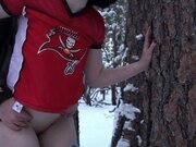'Fucking in the Forest after the SUPERBOWL! We almost got caught when he Creampie'd me!'